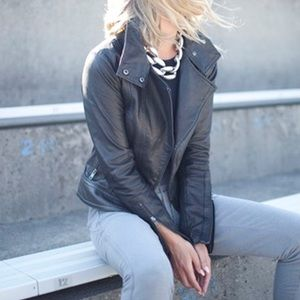Mackage for Aritzia Olive Leather Jacket